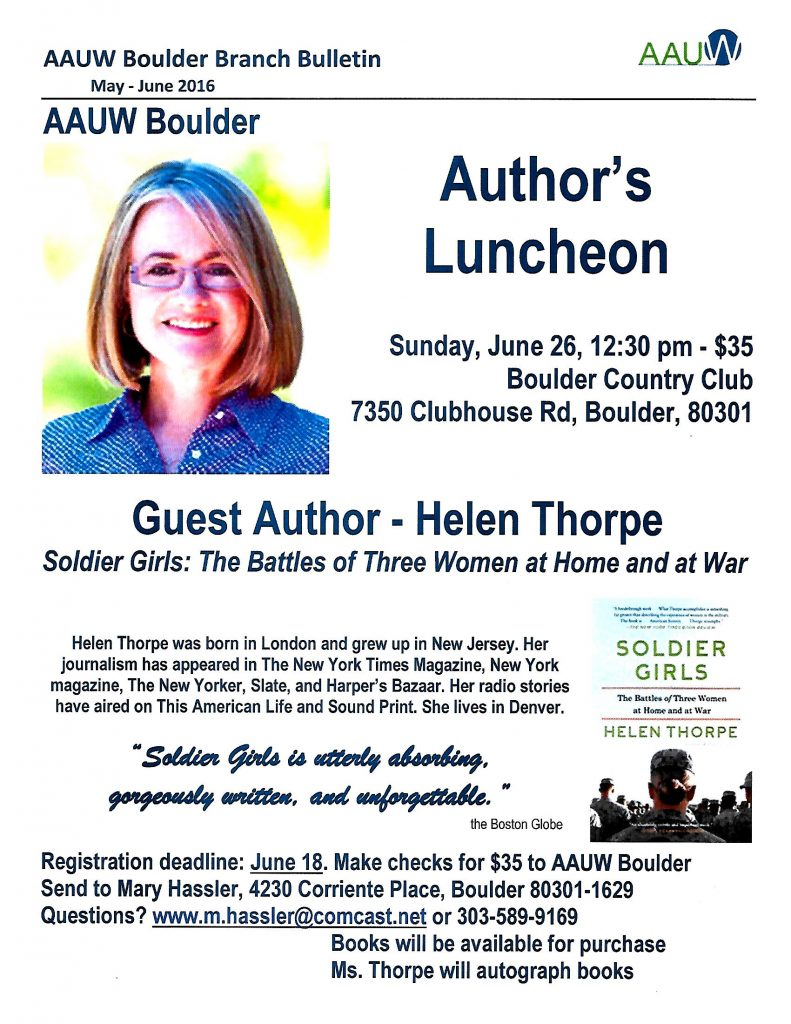 Annual Meeting & Author's Luncheon w- Helen Thorpe, June 26