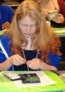 DSC00073_Girl Working on Hard Drive