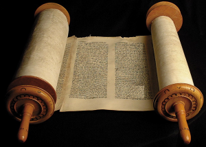 Ancient Scroll with Wooden Rollers_Edit